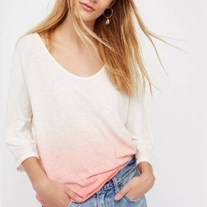 NWT Free People Strawberry Linen Blend Tee